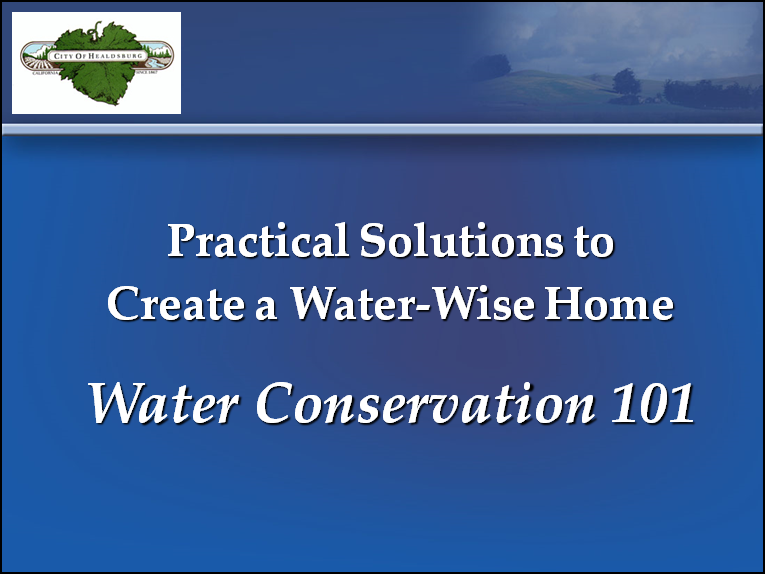 Water Conservation 101 slide